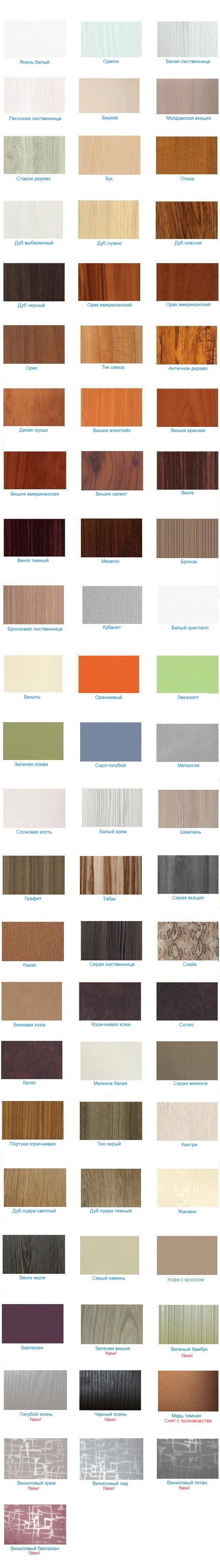 Цветовая гамма мебельных фасадов